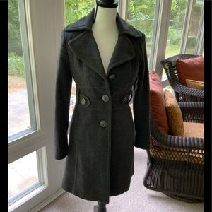 Kenneth Cole Wool Blend Trench Coat